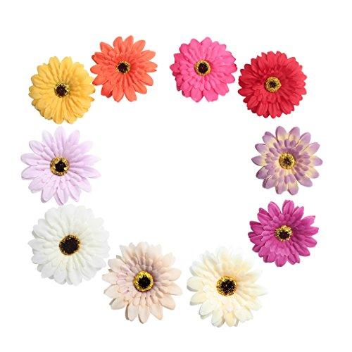 Baoblaze 10er Köpfe Kunst Pfingstrose Blumen Bouquet Kunstblumen Künstliche Pflanzen Deko - gemischt
