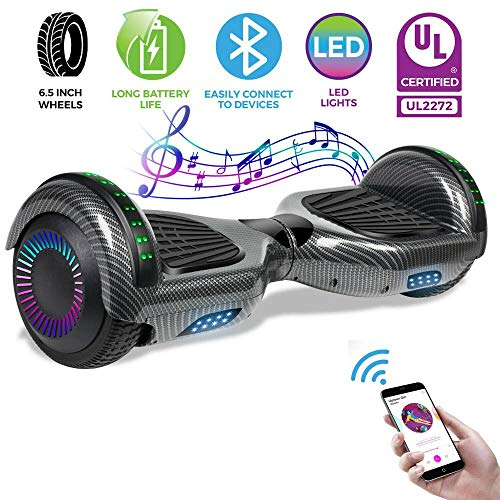 Best Buy! AlvisHa Bluetooth UL2272 Motorized Self Balance Hoverboard Electric Scooter no Bag-Black