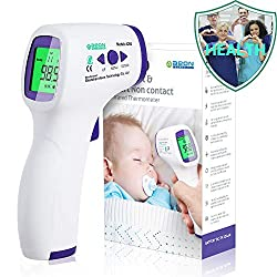 Forehead Thermometer for Adults, Non Contact Infrared Digital Thermometer for Fever, Body and Surface Dual Mode Medical Thermometer for Babies, Kids, Adults Indoor and Outdoor Use (White)
