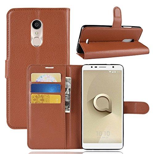 95Street Handyhülle für Alcatel 3C Schutzhülle Book Hülle für Alcatel 3C Hülle Klapphülle Tasche im Retro Wallet Design mit Praktischer Aufstellfunktion