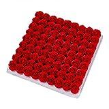 Riou 81Pcs Badeseife Rose Blumen Seife Rosenblätter Rosenblüten in Geschenkbox für Geburtstag