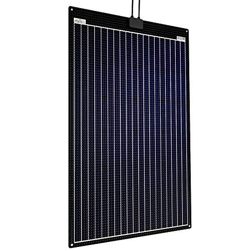 Offgridtec ETFE-AL - Módulo solar semiflexible (120 W, 12 V, placa de aluminio integrada)