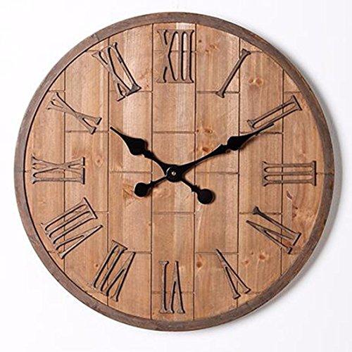 Wall Clock WERLM moderne woonkamer kantoor tafel tafel muur metaal hout strijkijzer wandklok met de home Office keuken scholen zijn ideaal voor elke ruimte