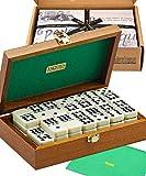 Lussuoso set da Domino doppio 9 in custodia di mogano