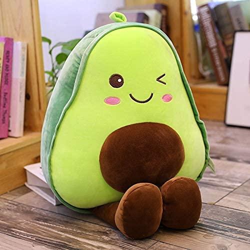HPMM 15-85cm Niedliche Avocado Frucht Plüschtier Schöne Cartoon Avocado Puppe Gefüllte Kissen Jungen Mädchen Anti-Stress Kissen Geschenk Spielzeug 15 cm grün (Color : Green, Size : 45cm)