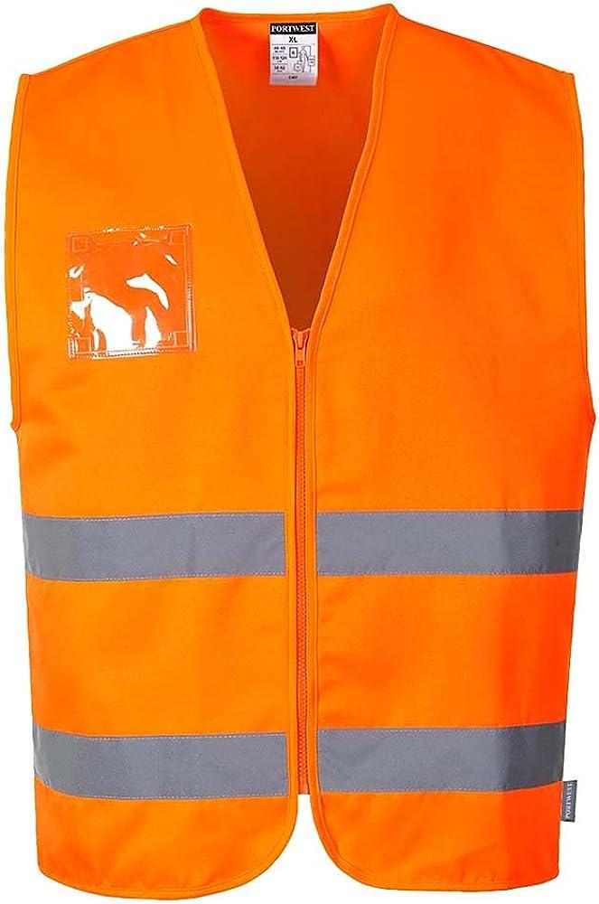 Portwest Workwear Mens Hi-Vis Polycotton Vest