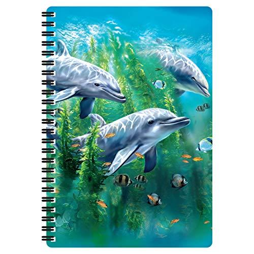3D LiveLife A5 Quaderno - Letto di Alghe dei Delfini di Deluxebase. Quaderno Delfino 80 Pagine 3D lenticolare. Superbo articolo da scuola o ufficio con grafica realizzata dal famosa artista Tami Alba