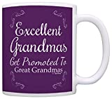 Great Grandma Gifts Excellent Grandmas Get Promoted to Great Grandma Gift Coffee Mug Tea Cup Purple