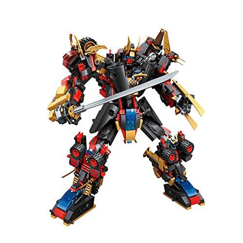 N\P 808Pcs 6in1 Mech Model Building Blocks Mech Kids Toy Bricks