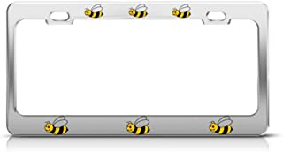 Speedy Pros Bumble Bee Animal Metal License Plate Frame Tag Holder