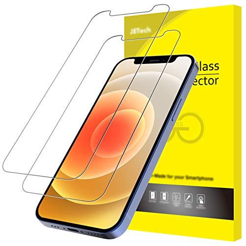 JETech Schutzfolie Kompatibel mit iPhone 12/12 Pro 6,1 Zoll, Gehärtetem Glas Displayschutzfolie, 2 Stück
