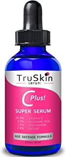 TruSkin Vitamin C-Plus Super Serum, Anti Aging Anti-Wrinkle Facial Serum with Niacinamide, Retinol, Hyaluronic Acid, and S...