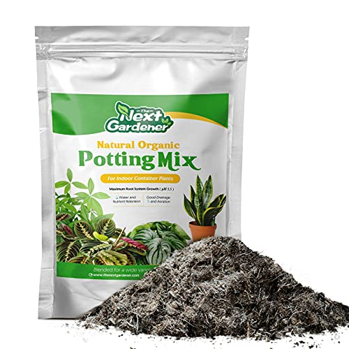 Premium Potting Soil Mix, Professional Garden Soil for Ornamentals, Pre-Mixed Blend Bonsai Soil, Rapid Growth Potting Mix, 2 Quarts