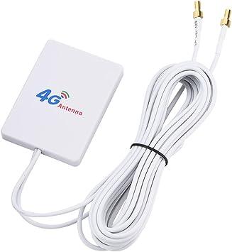 Delaman 4G/3G Antenas 28dbi Antena de Amplificador de Señal 4G/3G LTE de Alta Ganancia, para Enrutador Móvil para Huawei E398/E3276/E392 (tamaño : SMA ...