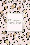 Wochenplaner 2019?2020: Modernes Cover Design in rosa Leopard, Oktober 2019 bis Dezember 2020, Wochen- und Monatsplaner, 1 Woche auf 2 Seiten, Kalender 15x21 cm - Emy-Planer