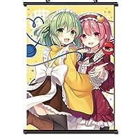 東方Projectポスターアニメアートクロス生地ウォールスクロールポスターコレクションホームルームインテリア 50x75cm