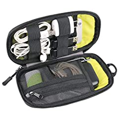 High Quality:Construction of heavy-duty, durable and water repellent nylon molded case with elegant design protects your item from scratches, dust and accidental dropping Adequate Storage Design:Ideal for organizing gadgets of various sizes, such as ...