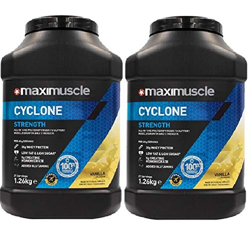 Maximuscle Cyclone - 1.26kg - Vanilla Twin Pack