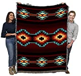 Pure Country Weavers Esme - Southwest Native American Inspired Tribal Camp - Cotton Woven Blanket Throw - Made in The USA (72x54)