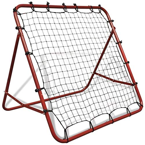 WANG-Werkzeuge Rebounder Net Football Training Soccer Kickback Ziel Ziel for Kinder Erwachsene Baseball-Softball-Trainingshilfe zur Verbesserung der Fußball-Pass- und Solo-Fähigkeiten , Rot