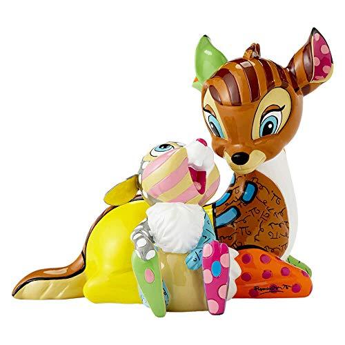 Disney Britto 4055230 Bambi and Thumper Figurine, Multi-Colour, 17.5 x 11.5 x 14.5 cm