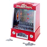Hey! Play! Coin Pusher Miniature Arcade Game - Replica Classic Penny & Dime Dozer Table Or bar Top Prize Vending Machine for Kids & Adults (80-TX65214)