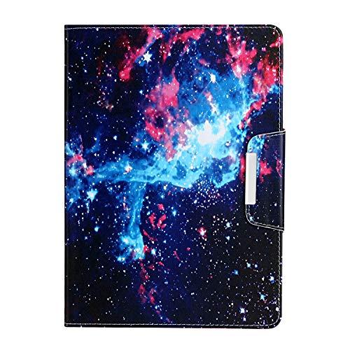 Ostop Coque Compatible avec Samsung Galaxy Tab 4 10.1 T530/T535,Étui Cuir PU Léger Flip Motif Coloré Ultra Mince Coque Portefeuille Intelligent Magnétique avec Support,Galaxie