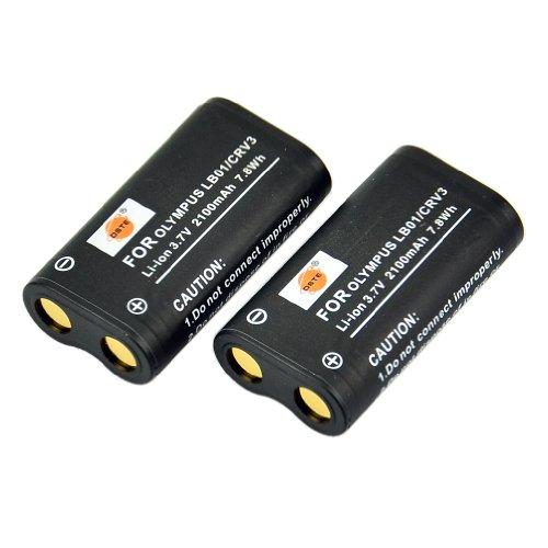 DSTE 2-Pack Ersatz Batterie Akku for Olympus CR-V3 C3000 C3040 40Z C-2100UZ C-211 C-211Z C-3000 C-3030 C-3030Z C-3040 C-3040Z C-4000 C-5050 C-5050Z C-700 C-700UZ C-720 C-740 C-740UZ C-750 C-750UZ C-730 C-4040 C-4040Z C-3020 C-3020Z D390 D510 Kamera