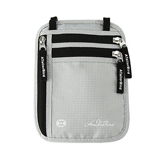 Brustbeutel, RFID-Blockierung Premium-Brustbeutel Flache Geräumige Brusttasche Maximale Sicherheit zum Sport, Reisen und Joggen, Verstellbaren Hüftgurt Enganliegend und Wasserabweisend
