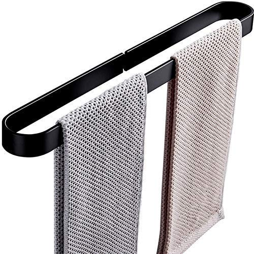 MYPNB Tendedero de baño, Colgando de Pared Toalla de Toalla Espacio Creativo, Aluminio Negro Nail Un Solo Polar Toalla de Toalla Toalla 4 Tamaños (Size : 40cm)