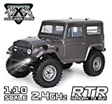 RGT Rc Crawlers 1/10 Scale 4wd 4x4 Off Road Racing Rock Crawler Water Resistance Rock Cruiser with Remote Control - Black (New Adventure 136100G)