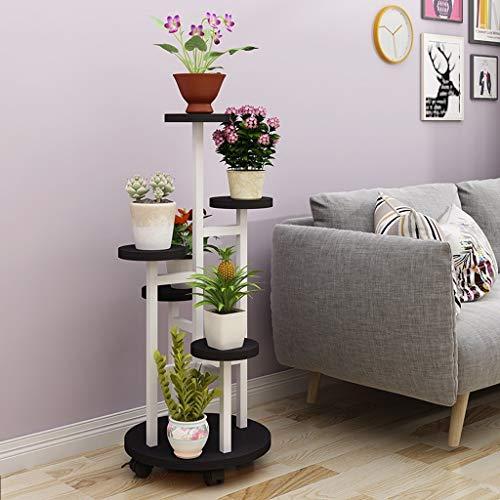 Metallblumenregal, mehrstöckiges Wohnzimmer-Betriebsstand-Innen 45 × 130cm Multifunktionsanzeigen-Speicher-Gestell Blumenständer für innen 625 (Color : E)