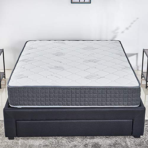 10 inch Latex Hybrid Coil Spring Mattress/Cooling Bed in a Box-Pocket Innerspring Mattress/CertiPUR-US/20Years Warranty Full/Firm But Comfortable (Full)