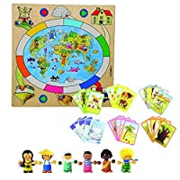 Constructive Playthings BEL-223 Children of The World Wooden Board Game [並行輸入品]