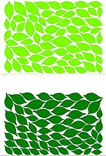 MAFENT 132 Pcs Leaves Wall Decal for Tree Wall Decor Room Decoration (Dark Green and Light Green)
