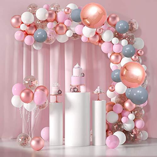 Cumpleaños globo baby shower,Pancarta de Feliz Cumpleaños,107 Pcs Cumpleaños de globo de confeti,Globos de Confeti con Letras,Decoraciones para Cumpleaños