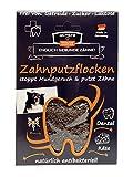 Qchefs Zahnputzflocken | Hunde Zahnpflege- Snack| Zahnpulver| Hundeleckerlie| Zahnsteinentferner | gegen Mundgeruch & Zahnfleischentzündung | Hüttenkäse- natürlich antibakteriell- jodfrei - alle