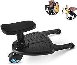 Tandou Buggyboard mit Sitz, Buggy Board am Kinderwagen Anzubringen - Abnehmbar und Zusammenbauen Blau