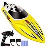 YEZI Remote Control Boat for Pools & Lakes,Udi001 Venom Fast RC Boat for Kids & Adults,Self Righting Remote Controlled Boat W/Extra Battery (Yellow)