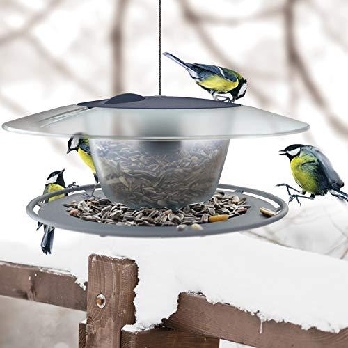 rg-vertrieb Vogelhaus Vogelfutterhaus Kunststoff Futterhaus Futterstelle Futterstation Rund 29x26cm