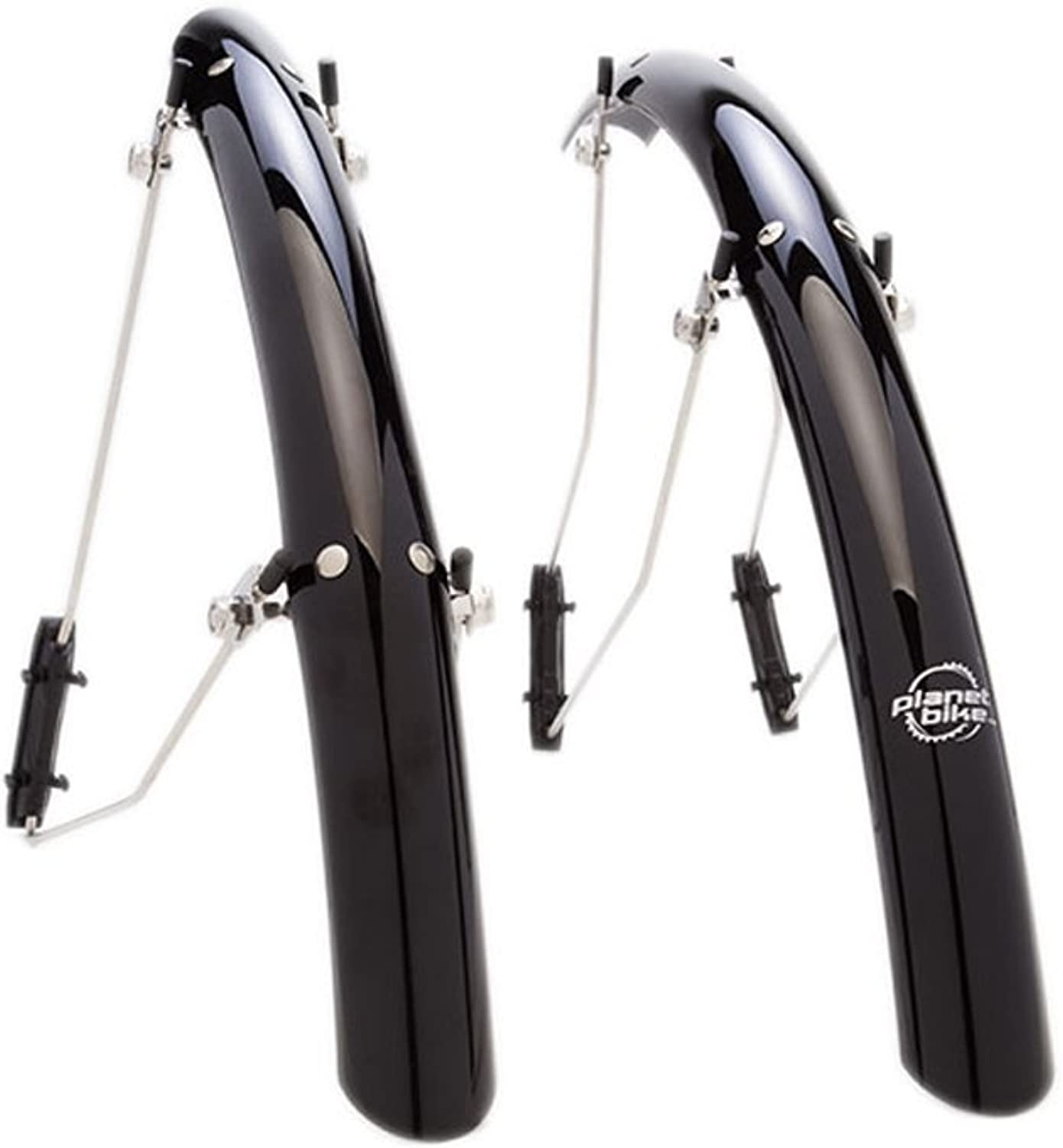 Planet Bike SpeedEZ Road Front and Rear Bicycle Fender Set (Black, 35mm Wide)