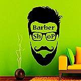 fdgdfgd Decalcomanie da Muro per Barbiere Decalcomanie per Capelli Salone di Bellezza Adesivi murali in Vinile Accessori per la Decorazione del Negozio di Barbiere per Il Lavaggio degli Uomini