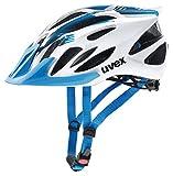 Uvex 4109660117 Casco Ciclismo MTB, Unisex Adulto, Blanco/Azul, M