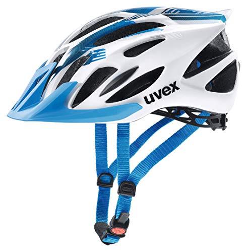 Uvex 4109660115 Casco Ciclismo MTB, Unisex Adulto, Blanco/Azul, M