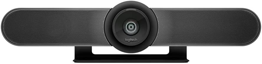 Logitech MeetUp, Sistema de Cámara para Conferencias, Webcam Ultra HD 4K/1080p/720p, 3 Micrófonos/Altavoces Personalizables, Amplio Campo Visual 120°, PC/Mac/Portátil/Macbook/Tablet, Color Negro