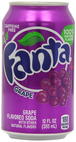 Fanta Grape Soda Can 355 ml (Pack of 12)