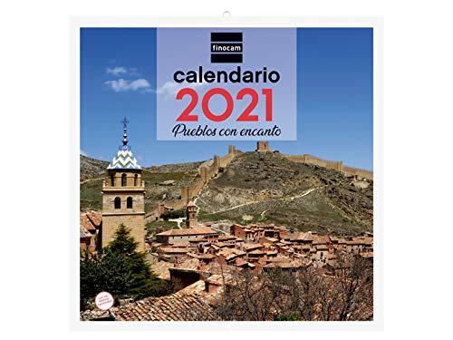 Finocam - Calendario de pared 2021 Escribir Imágenes 30x30 Pueblos con encanto Español