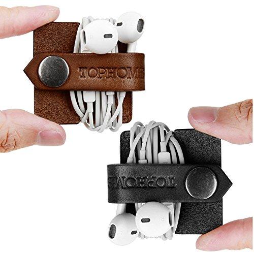 TOPHOME Cable de los Auriculares Bobinadora Cable Devanaderas Organizadores de Cable, ParaClips...