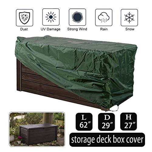 Oslimea Patio Deck Box Cover Waterproof Storage Box Cover Large to Protect Your Deck Box Waterproof Heavy Duty Outdoor Furniture Winter Deck Box Cover
