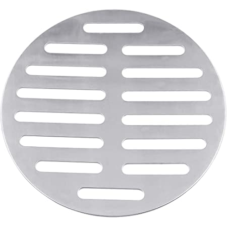 Vonty Stainless Steel Round Floor Drain Cover 6 Inch 14 Holes Silver Tone